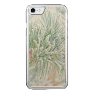 Winter Pine Carved iPhone 7 Case