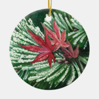 Winter Pine Ceramic Ornament