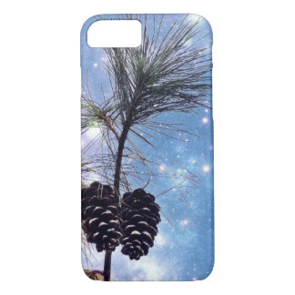 Winter Pine Cones under a starry night sky iPhone 8/7 Case