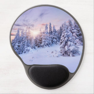 Winter Pine Forest Gel Mouse Pad