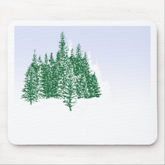 Winter Pine Grove Mouse Pad