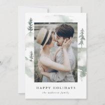 Winter Pine   Holiday Photo Card