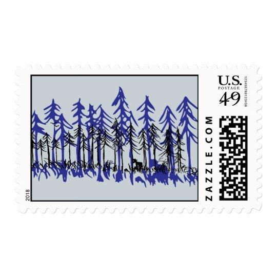 Winter Pine Postage