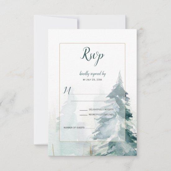 Winter Pine Romance RSVP