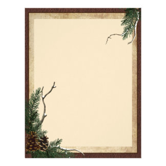 Winter Pine Stationary - Flyer Letterhead