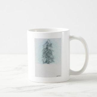 Winter Pine Tree - Acrylic Painting Coffee Mug