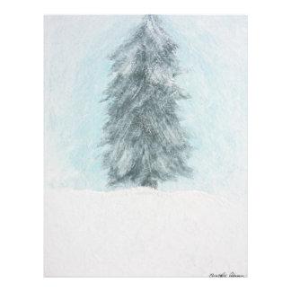 Winter Pine Tree - Acrylic Painting Flyer