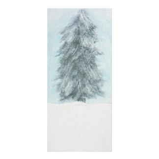 Winter Pine Tree - Acrylic Painting Rack Card