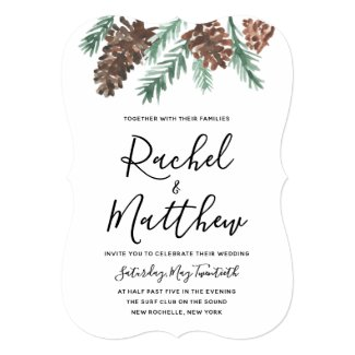 Winter Pinecone | Wedding Invitation