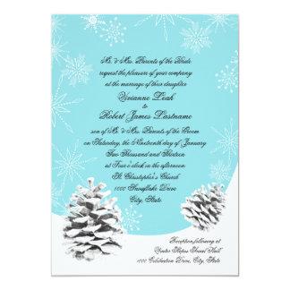 Winter Pinecones Wedding Card
