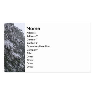 Winter Pines Double-Sided Standard Business Cards (Pack Of 100)