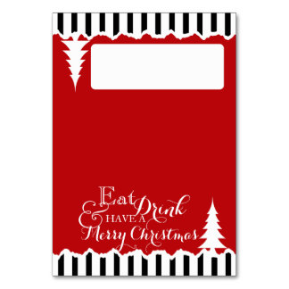 Winter Pines Christmas Seating Place Card Table Cards