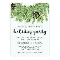 Winter Pines | Holiday Party Invitation