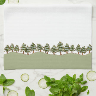 Winter Pines Kitchen Towel