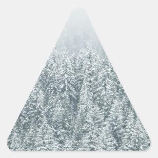 Winter Pines Triangle Sticker