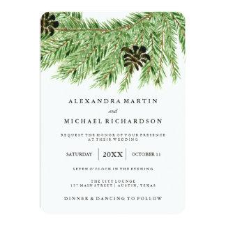 Winter Pines Wedding Card