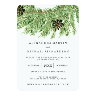 Winter Pines Wedding Invitation