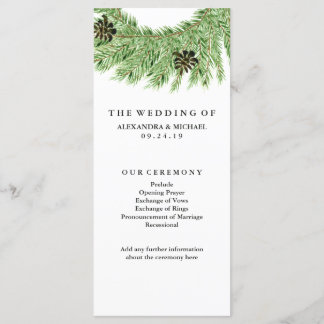Winter Pines Wedding Program
