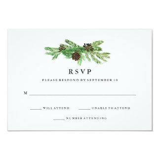 Winter Pines Wedding RSVP Card