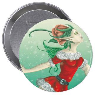 Winter Pixie Pinback Button