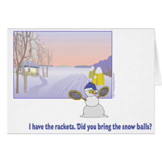 Winter Play Day Tennis Card