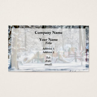 Winter Playground Business Card