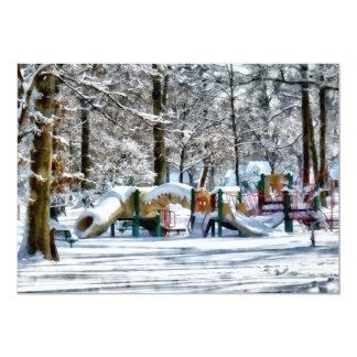 Winter Playground Card