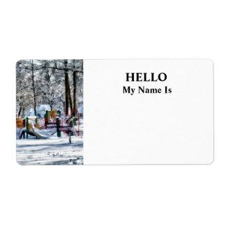 Winter Playground Label