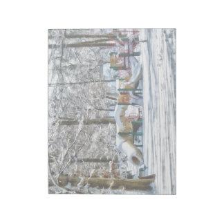 Winter Playground Notepad