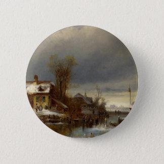 Winter Pleasure - Wintervergnugen Pinback Button