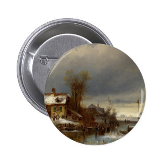 Winter Pleasure - Wintervergnugen Pinback Button