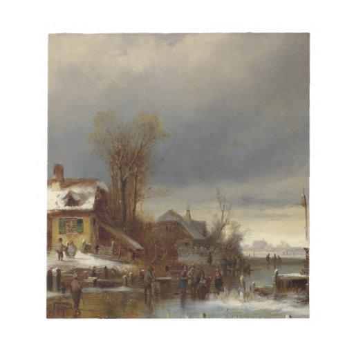 Winter Pleasures - Wintervergnugen Notepad