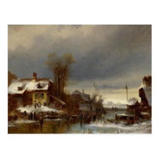 Winter Pleasures - Wintervergnugen Postcard