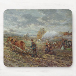 Winter Ploughing Mouse Pad