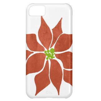 Winter Poinsettia Watercolor iPhone 5C Cover