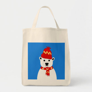 Winter Polar Bear - Grocery Tote