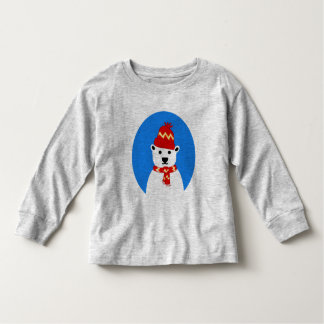 Winter Polar Bear - Long Sleeve Tee for Toddlers