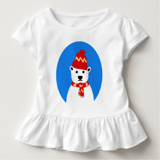 Winter Polar Bear - Tee Shirt for Toddlers