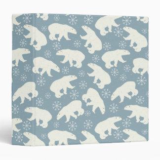Winter Polar Bears seamless pattern + your ideas Binder