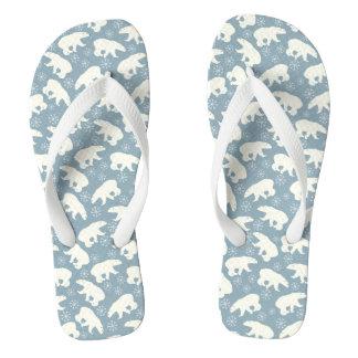 Winter Polar Bears seamless pattern + your ideas Flip Flops