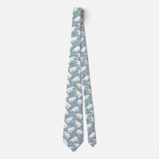 Winter Polar Bears seamless pattern + your ideas Neck Tie