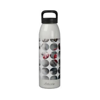 Winter Polka Dots Berries Red Drinking Bottle