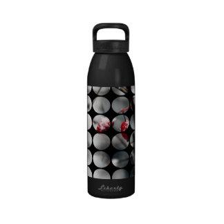 Winter Polka Dots Berries Red Reusable Water Bottle