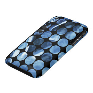 Winter Polka Dots Blue Ice iPhone 3 Case-Mate Cases