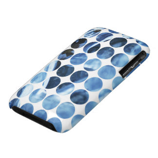 Winter Polka Dots Blue Ice Case-Mate iPhone 3 Case