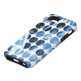 Winter Polka Dots Blue Ice iPhone 5 Cover