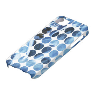 Winter Polka Dots Blue Ice iPhone 5 Cases