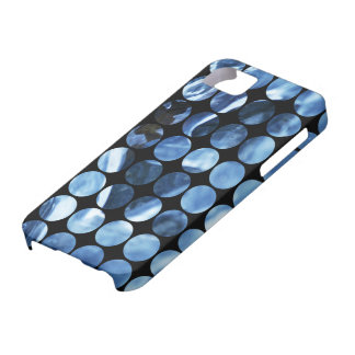 Winter Polka Dots Blue Ice iPhone 5 Case