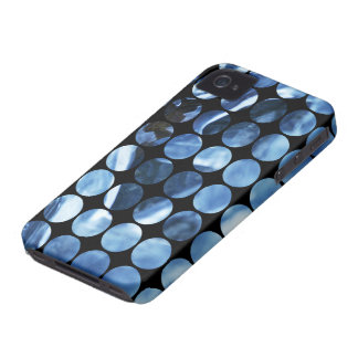 Winter Polka Dots Blue Ice Case-Mate iPhone 4 Cases
