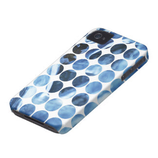 Winter Polka Dots Blue Ice iPhone 4 Case-Mate Case